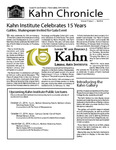 Kahn Chronicle: Fall 2014 by Smith College, Kahn Liberal Arts Institute